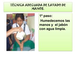 TECNICA ADECUADA DE LAVADO