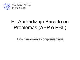 EL Aprendizaje Basado en Problemas (ABP o PBL)