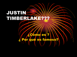 JUSTIN TIMBERLAKE??? - SchoolWorld an Edline