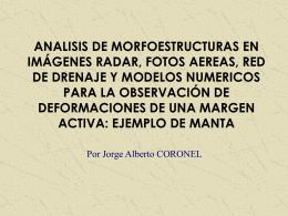 ANALISIS DE MORFOESTRUCUTRAS EN IMÁGENES RADAR,