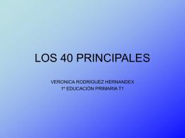 LOS 40 PRINCIPALES - Veronica87rodriguez`s Blog