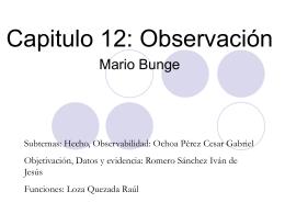 Observación Mario Bunge