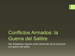 Conflictos Armados: la Guerra con España y la