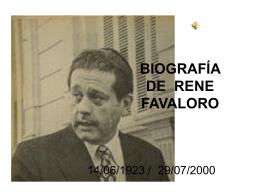 BIOGRAFÍA DE RENE FAVALORO