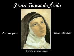 Santa Teresa de Ávila - homilias homiletica Jesus