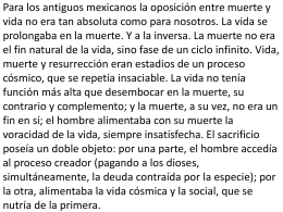Para los antiguos mexicanos la oposición entre