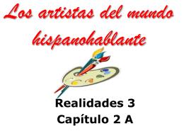 Los artistas del mundo hispanohablante