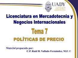 Políticas de Precios - Facultad de Contaduría y
