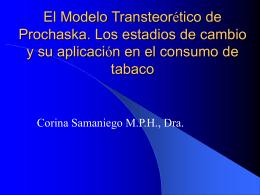 Modelo Transteorético de Prochaska: Estadios de