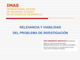 IMAS INTERNATIONAL MASTER OF ADVANCED STUDIES EN