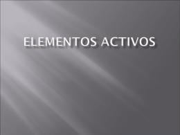 Elementos activos - I.S.C. 603-B