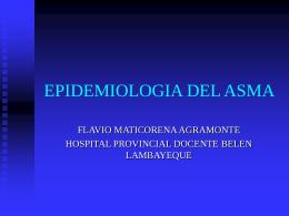 EPIDEMIOLOGIA DEL ASMA