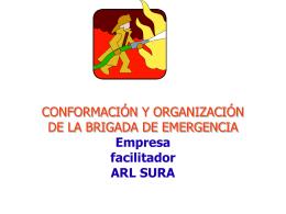 CONFORMACIÓN Y ORGANIZACIÓN DE LA BRIGADA DE