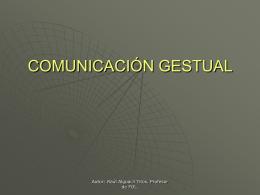 COMUNICACIÓN GESTUAL - Formación y Orientación