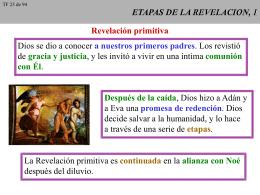 ETAPAS DE LA REVELACION, 1