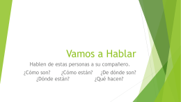 Vamos a Hablar - Weber School District