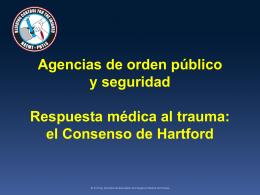 Agencias de orden público y seguridad Respuesta