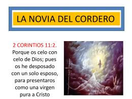 LA NOVIA DEL CORDERO.