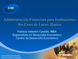 Manejo de las Finanzas en Entidades sin Fines de