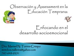 Observación y Assessment en la Educación Temprana: