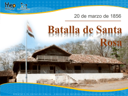 Batalla de Santa Rosa - Ministerio de Educación
