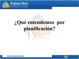 ¿Qué entendemos por planificación?