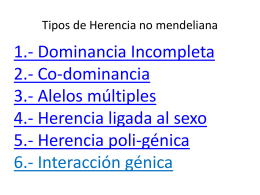 Tipos de Herencia no mendeliana -
