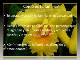 COMO ES TU FAMILIA - CESDER Puebla