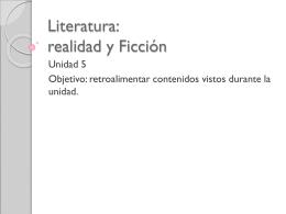 Literatura: realidad y Ficción