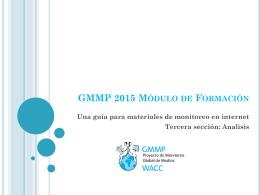 GMMP 2015 Módulo de Formación