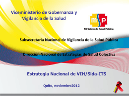 Respuesta Nacional a la Epidemia del VIH
