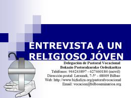 ENTREVISTA A UN RELIGIOSO JÓVEN