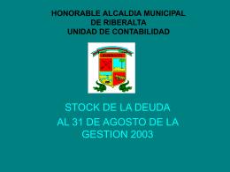 HONORABLE ALCALDIA MUNICIPAL DE RIBERALTA UNIDAD
