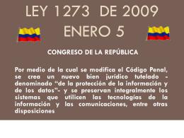Ley 1273 de Enero 5 de 2009