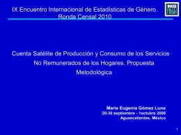 Propuesta metodológica de las cuentas satélite de