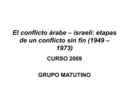 El conflicto árabe – israelí: etapas de un