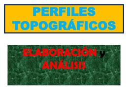PERFILES TOPOGRÁFICOS