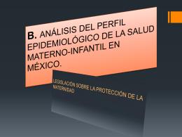 B. ANÁLISIS DEL PERFIL EPIDEMIOLÓGICO DE LA SALUD