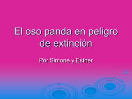 El oso panda en peligro de extinción - Home