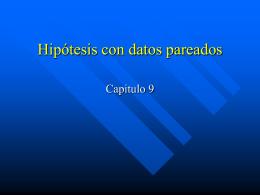Hipótesis con datos pareados