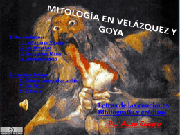 MITOLOGÍA EN VELÁZQUEZ Y GOYA