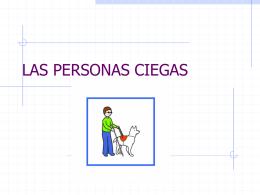 LAS PERSONAS CIEGAS - CFIE de Valladolid