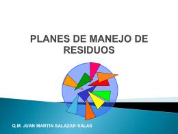 PLANES DE MANEJO DE RESIDUOS PELIGROSOS