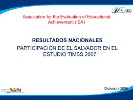 Resultados Nacionales: participación de El