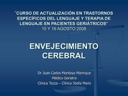 ENVEJECIMIENTO CEREBRAL - Terapia de Audición Voz