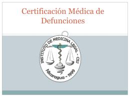 Certificación Médica de Defunciones