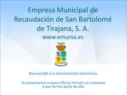 Empresa Municipal de Recaudación de San Bartolomé