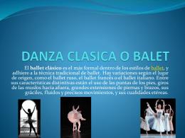 DANZA CLASICA O BALET