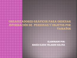 ORGANIZADORES GRÁFICOS PARA ORDENAR INFORMACIÓN DE