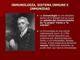 CÉLULAS Y ORGÁNOS DEL SISTEMA INMUNE